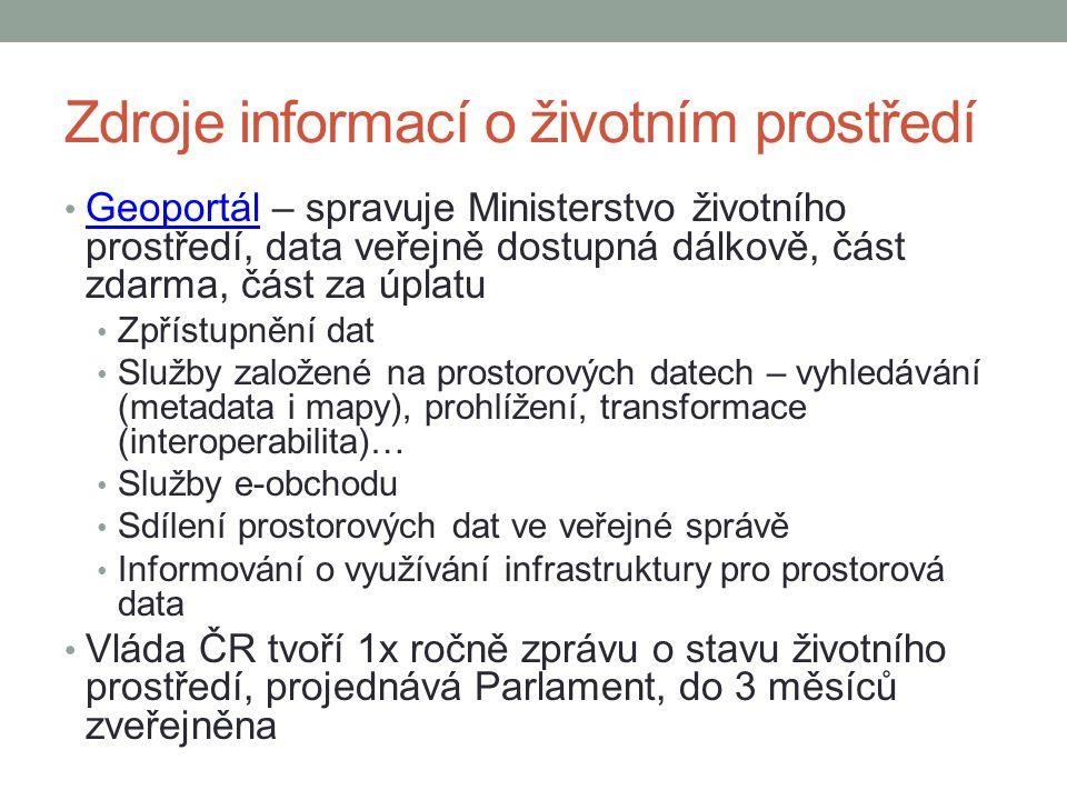 Zdroje informací o životním prostředí