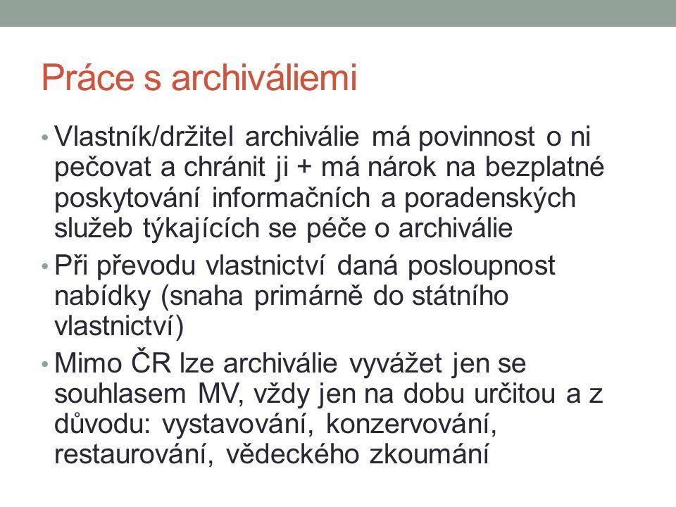 Práce s archiváliemi