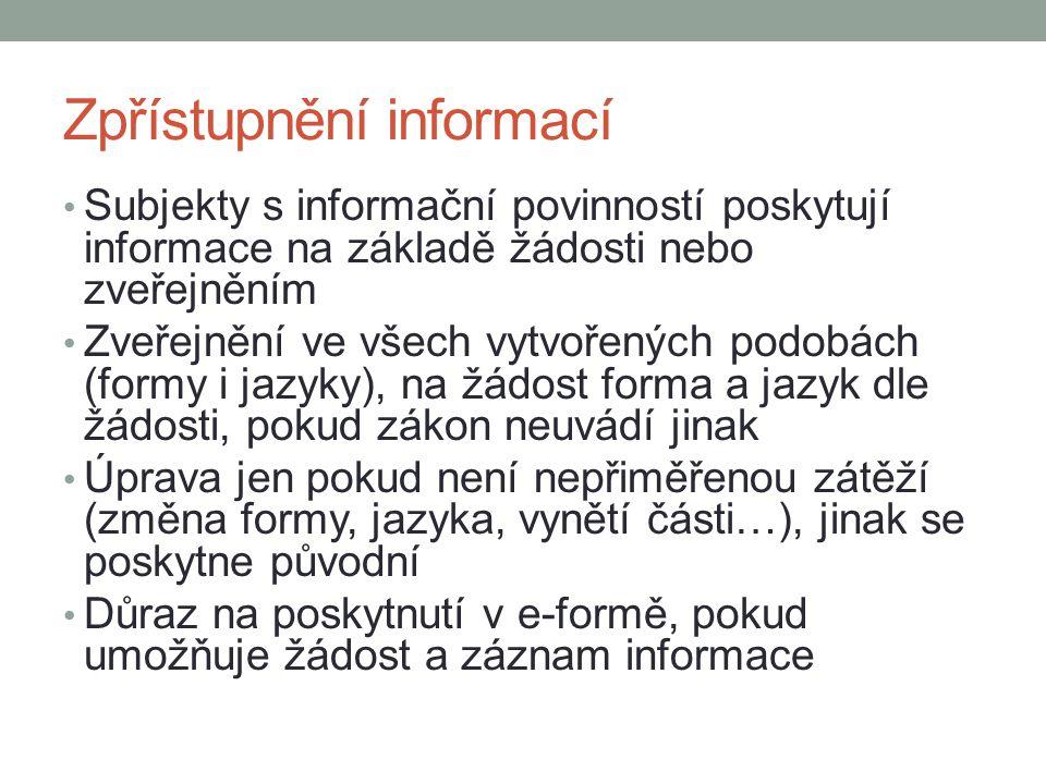 Zpřístupnění informací