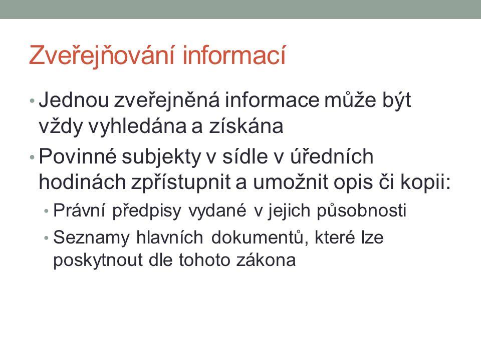 Zveřejňování informací