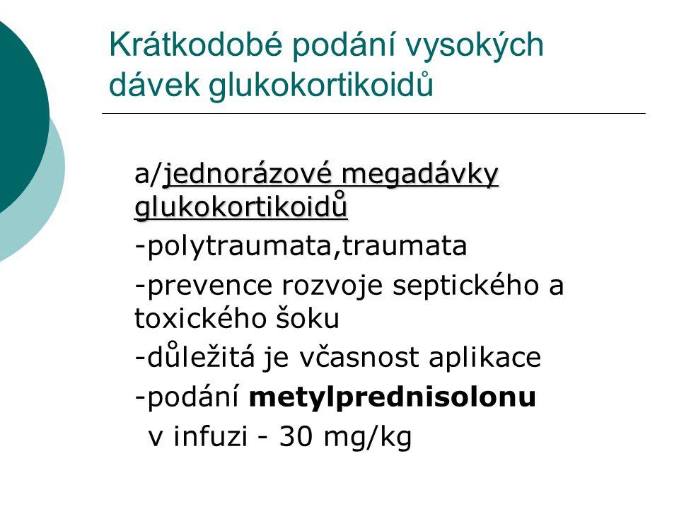Krátkodobé podání vysokých dávek glukokortikoidů