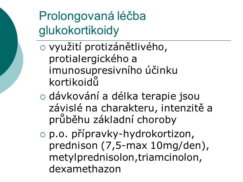 Prolongovaná léčba glukokortikoidy