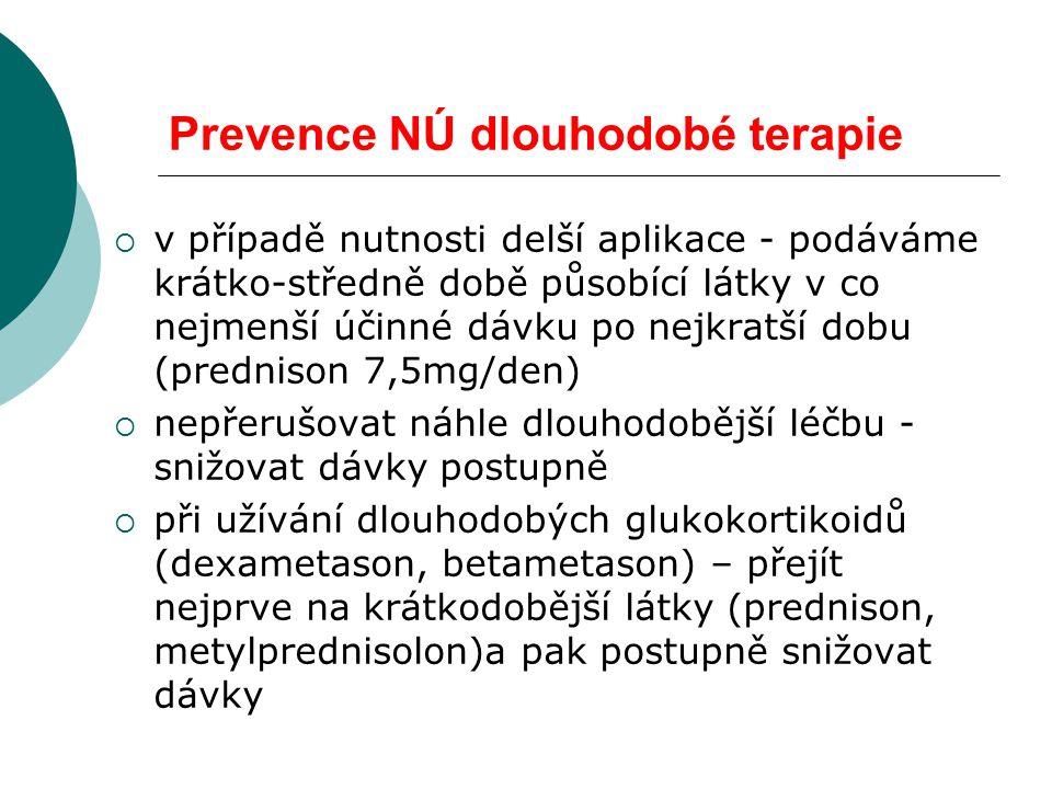 Prevence NÚ dlouhodobé terapie