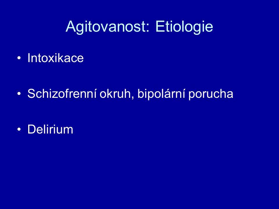 Agitovanost: Etiologie