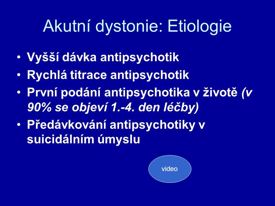 Akutní dystonie: Etiologie