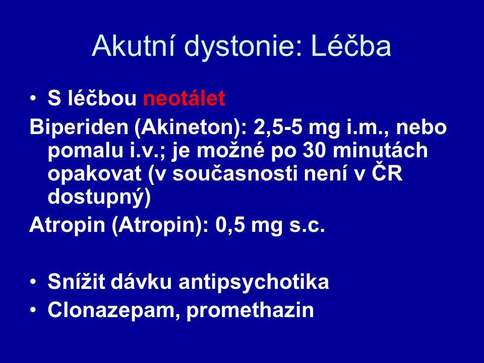 Akutní dystonie: Léčba