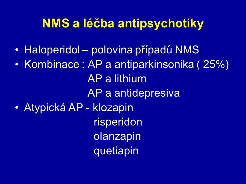 NMS a léčba antipsychotiky