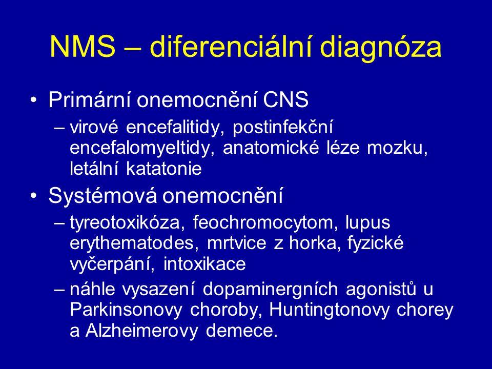 NMS – diferenciální diagnóza
