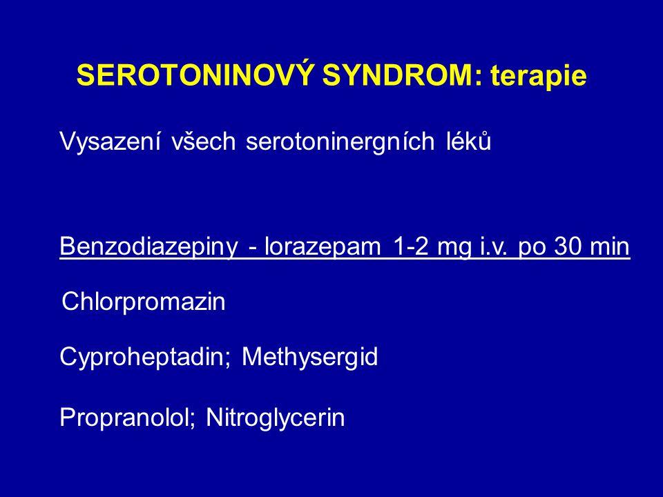 SEROTONINOVÝ SYNDROM: terapie