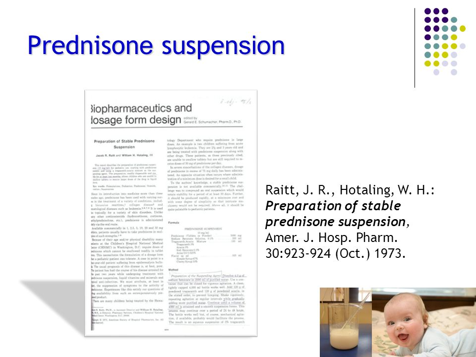 Prednisone suspension