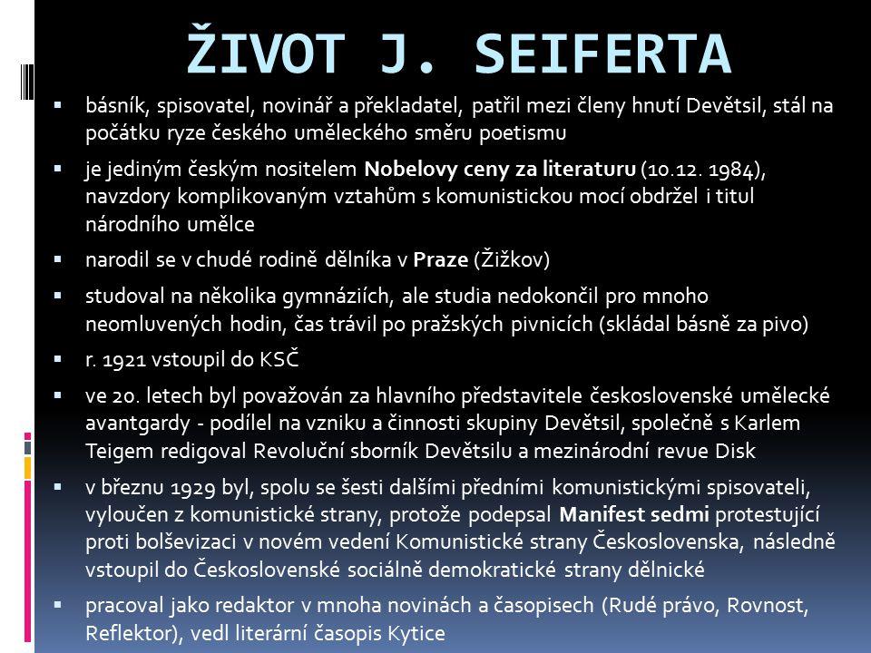 ŽIVOT J. SEIFERTA