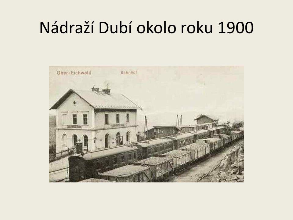 Nádraží Dubí okolo roku 1900