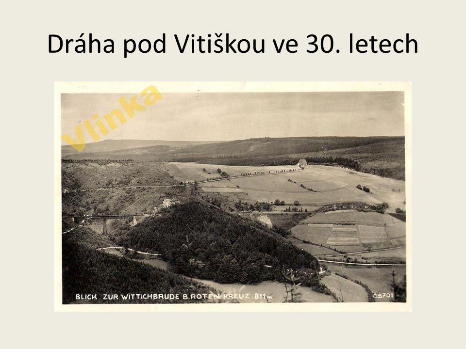 Dráha pod Vitiškou ve 30. letech