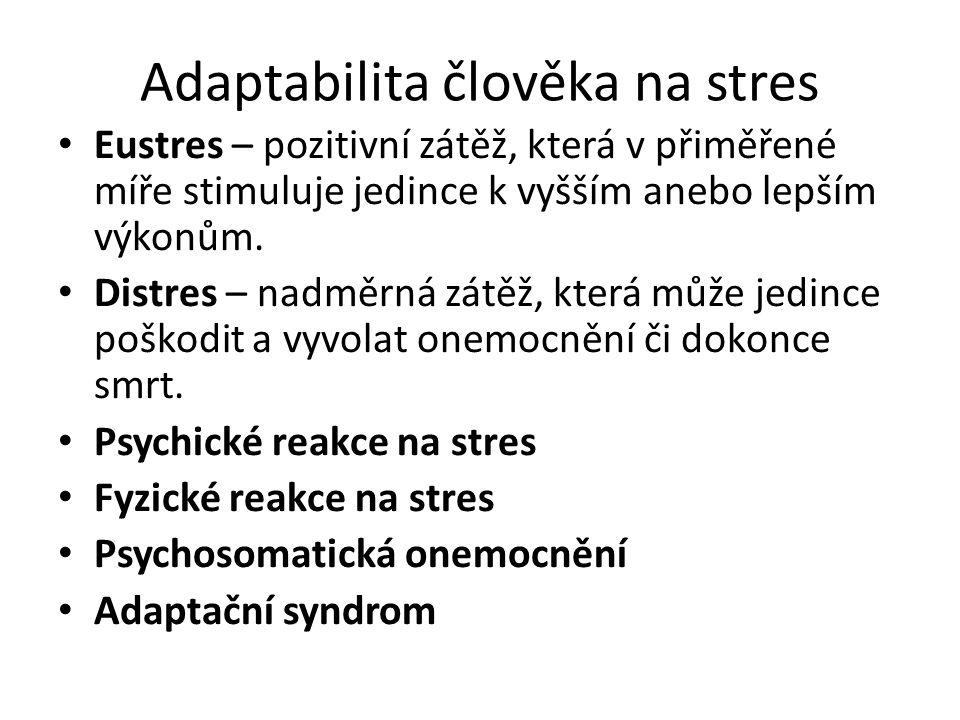 Adaptabilita člověka na stres