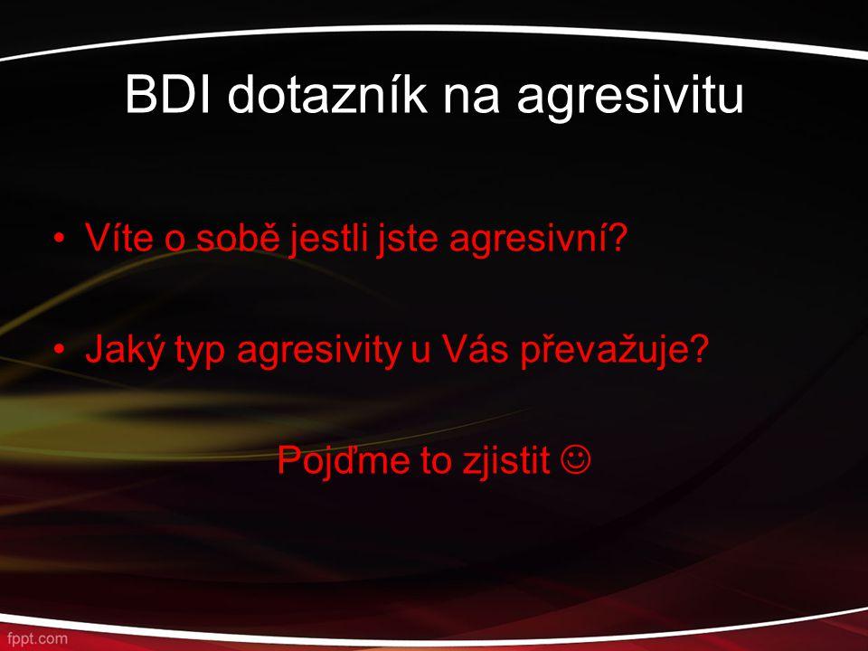 BDI dotazník na agresivitu