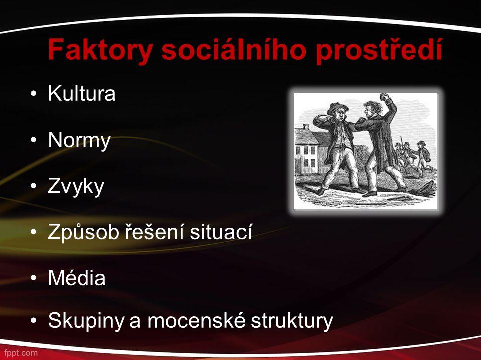 Faktory sociálního prostředí