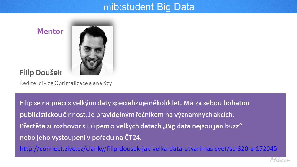 mib:student Big Data Filip Doušek Mentor