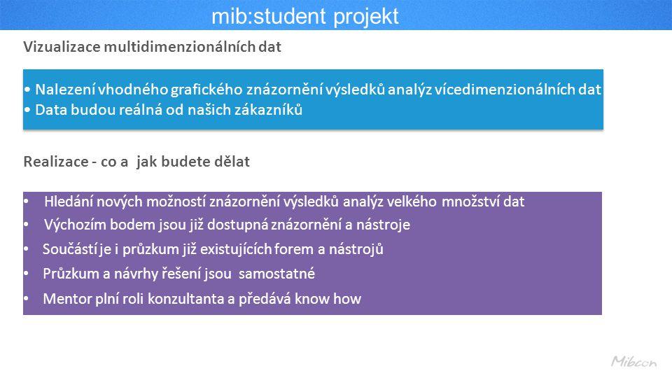 mib:student projekt Vizualizace multidimenzionálních dat
