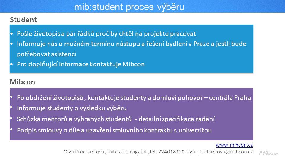 mib:student proces výběru