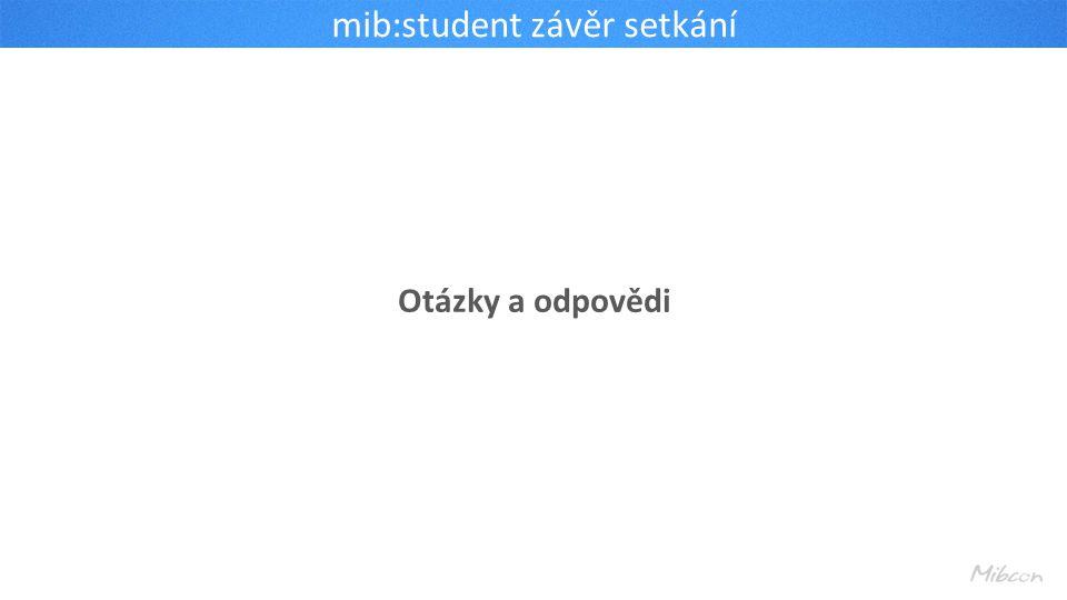 mib:student závěr setkání