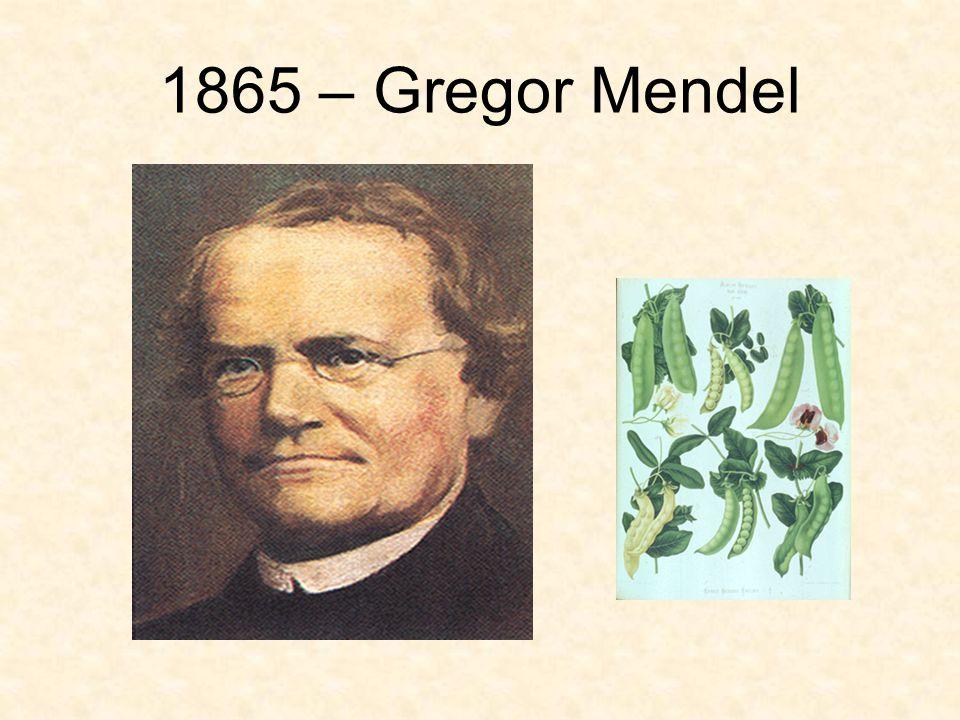 1865 – Gregor Mendel