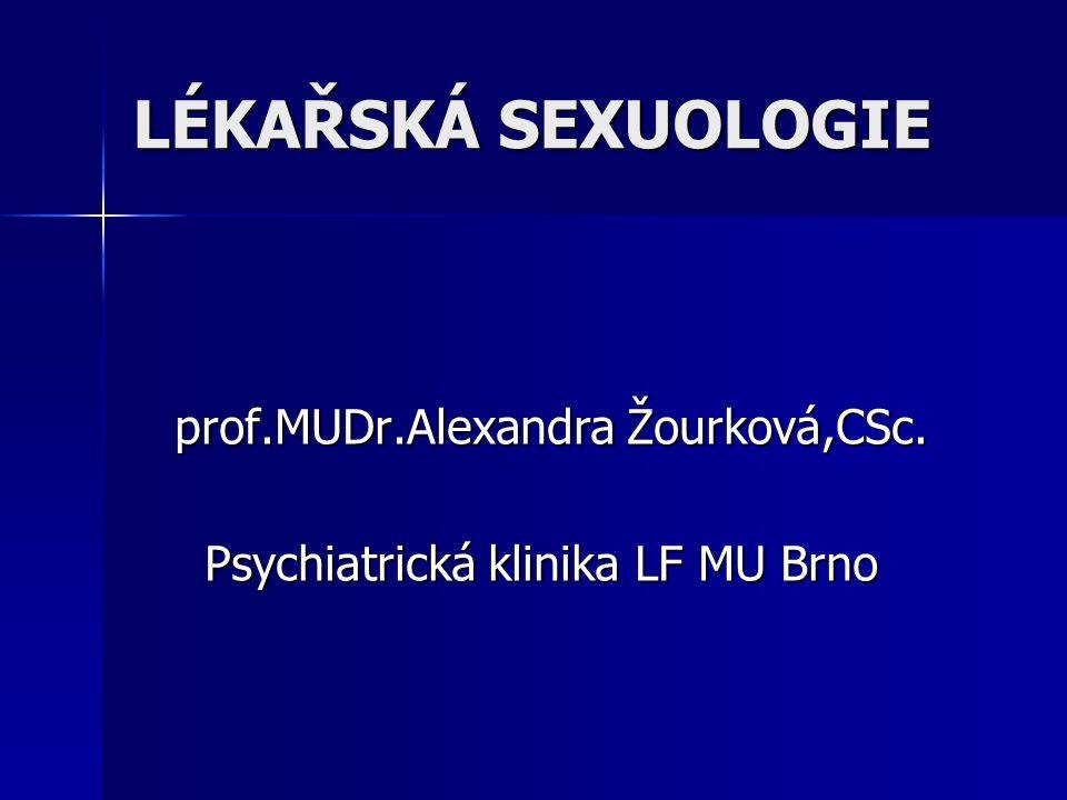 prof.MUDr.Alexandra Žourková,CSc. Psychiatrická klinika LF MU Brno