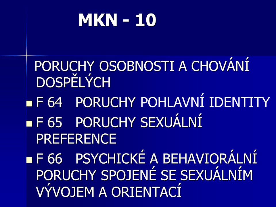 MKN - 10 PORUCHY OSOBNOSTI A CHOVÁNÍ DOSPĚLÝCH