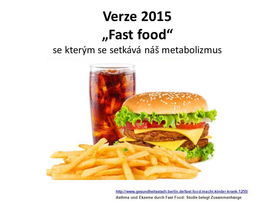 """Verze 2015 """"Fast food se kterým se setkává náš metabolizmus"""