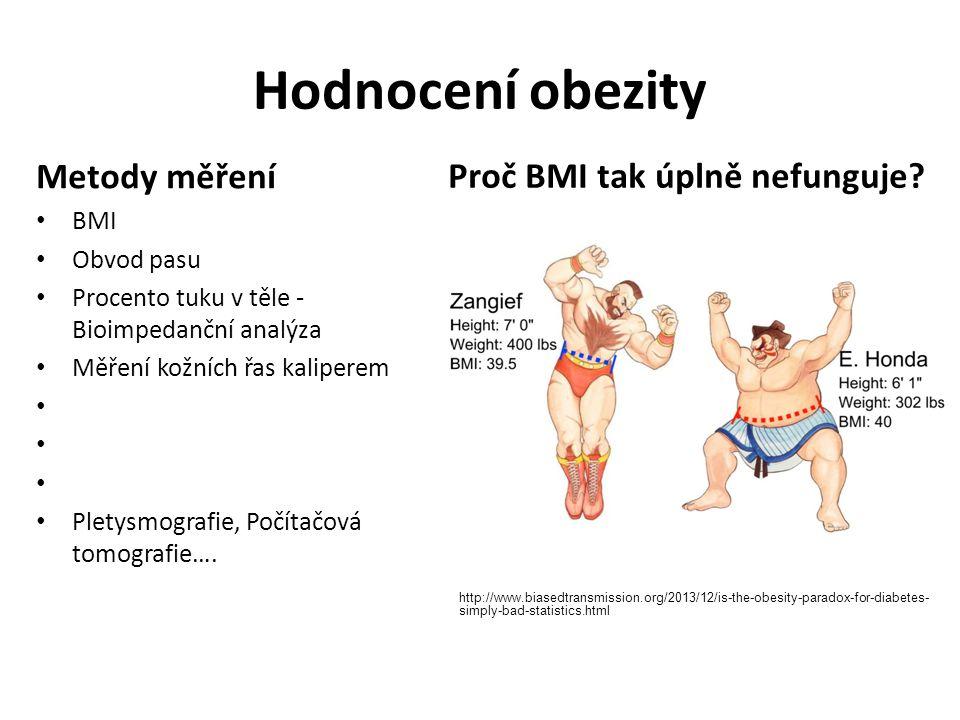 Hodnocení obezity Metody měření Proč BMI tak úplně nefunguje BMI
