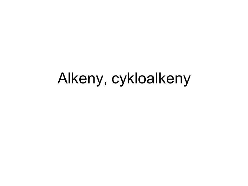 Alkeny, cykloalkeny