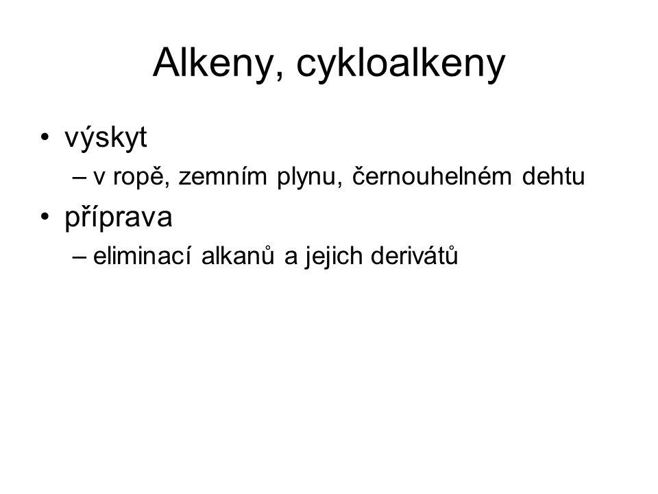 Alkeny, cykloalkeny výskyt příprava