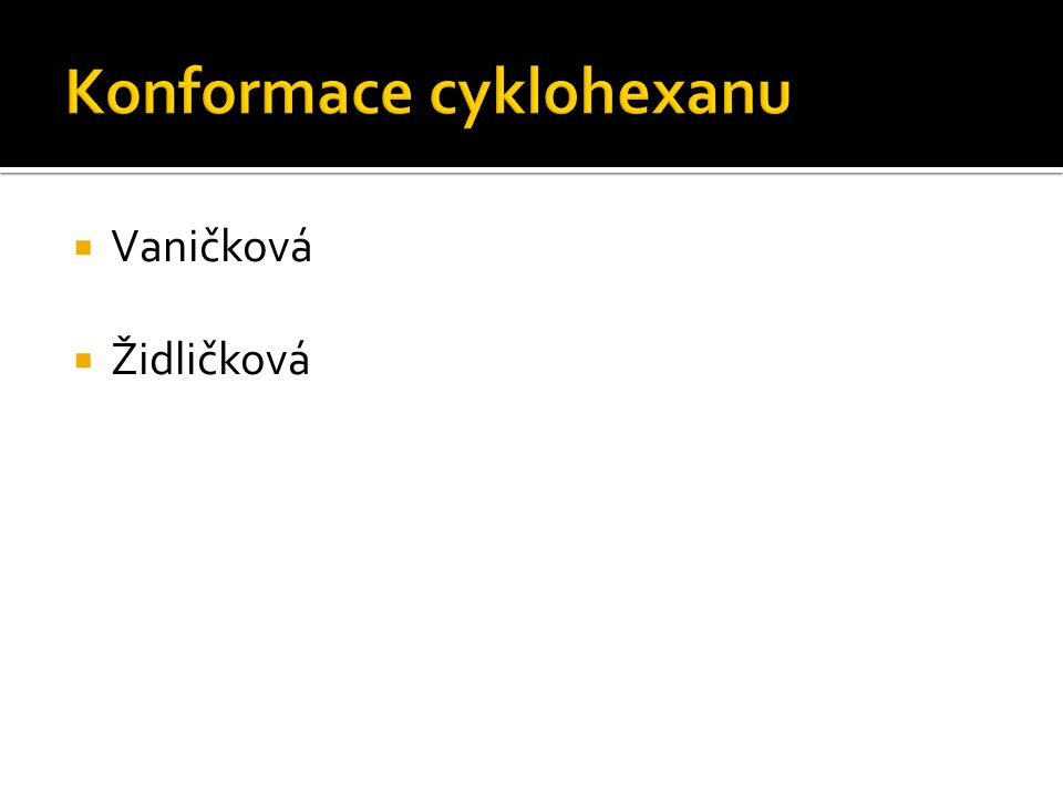 Konformace cyklohexanu