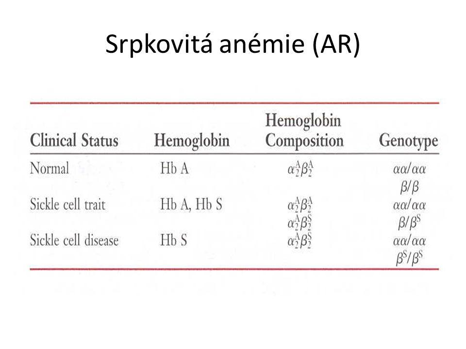 Srpkovitá anémie (AR)