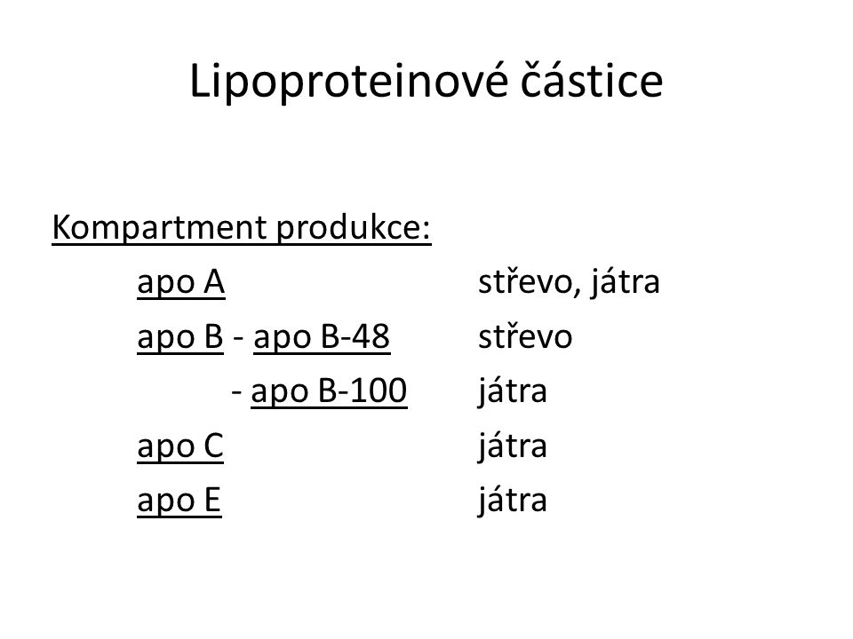 Lipoproteinové částice