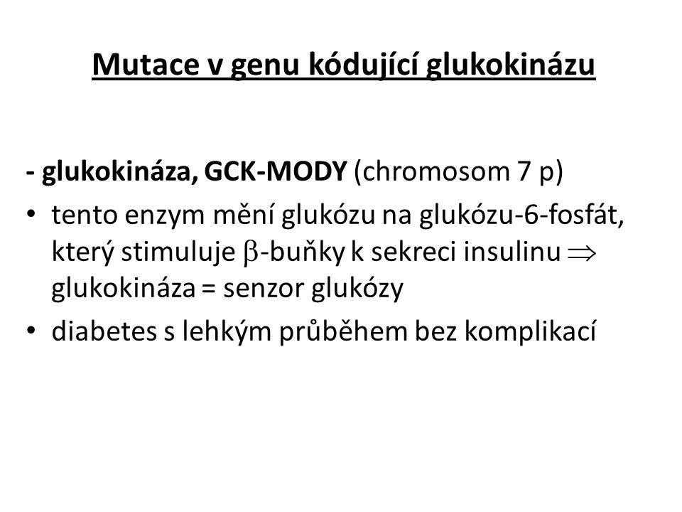 Mutace v genu kódující glukokinázu