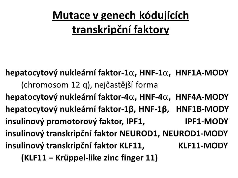 Mutace v genech kódujících transkripční faktory