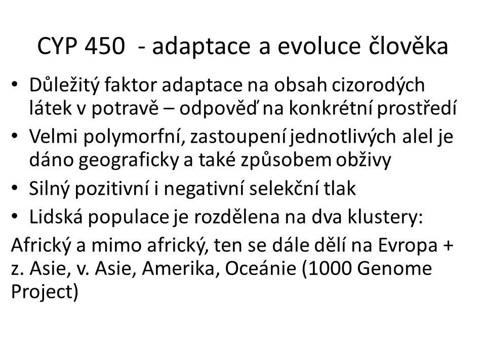 CYP 450 - adaptace a evoluce člověka
