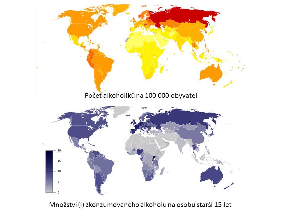 Počet alkoholiků na 100 000 obyvatel
