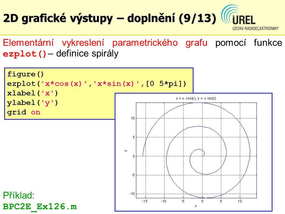 2D grafické výstupy – doplnění (9/13)