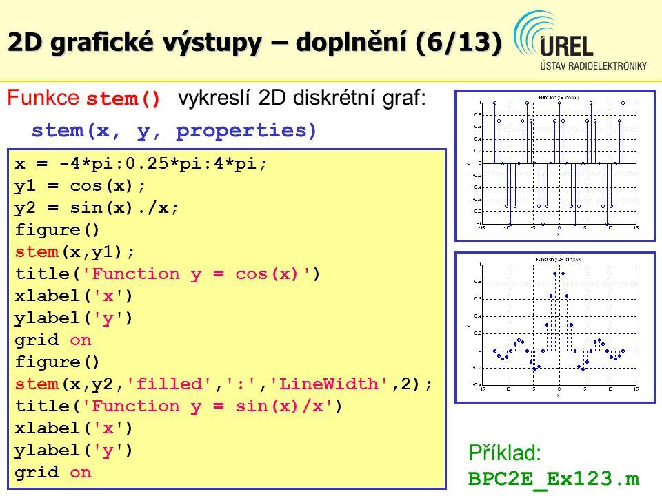 2D grafické výstupy – doplnění (6/13)