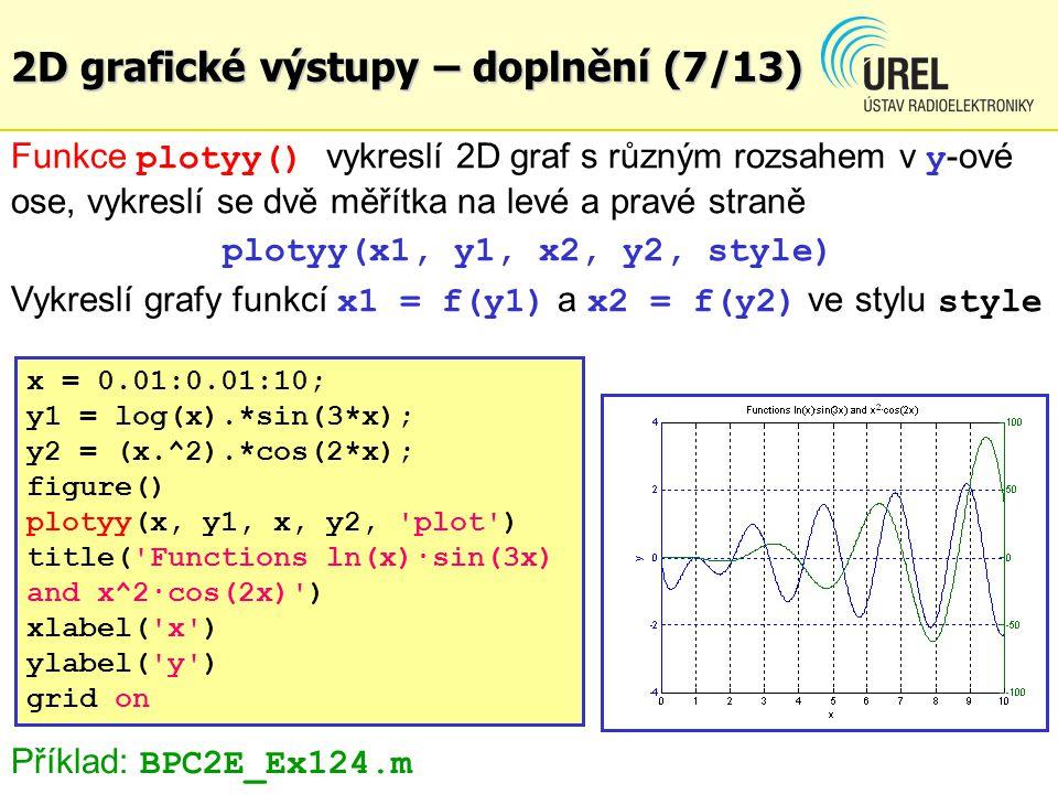 2D grafické výstupy – doplnění (7/13)