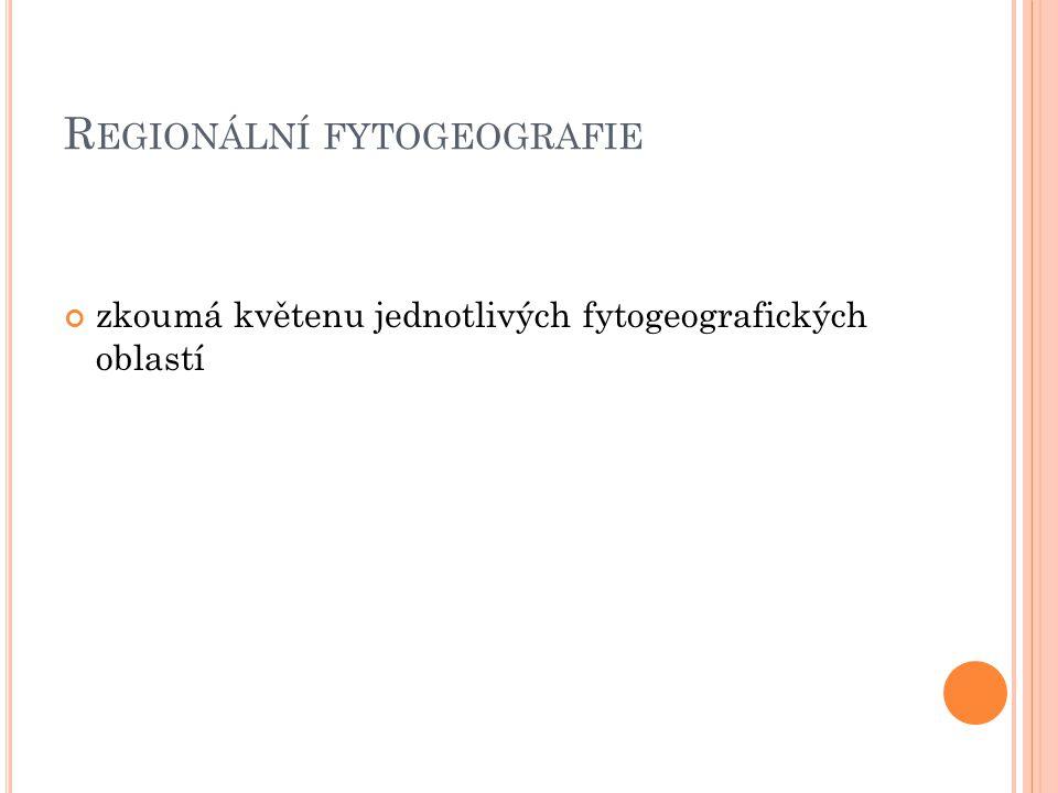 Regionální fytogeografie
