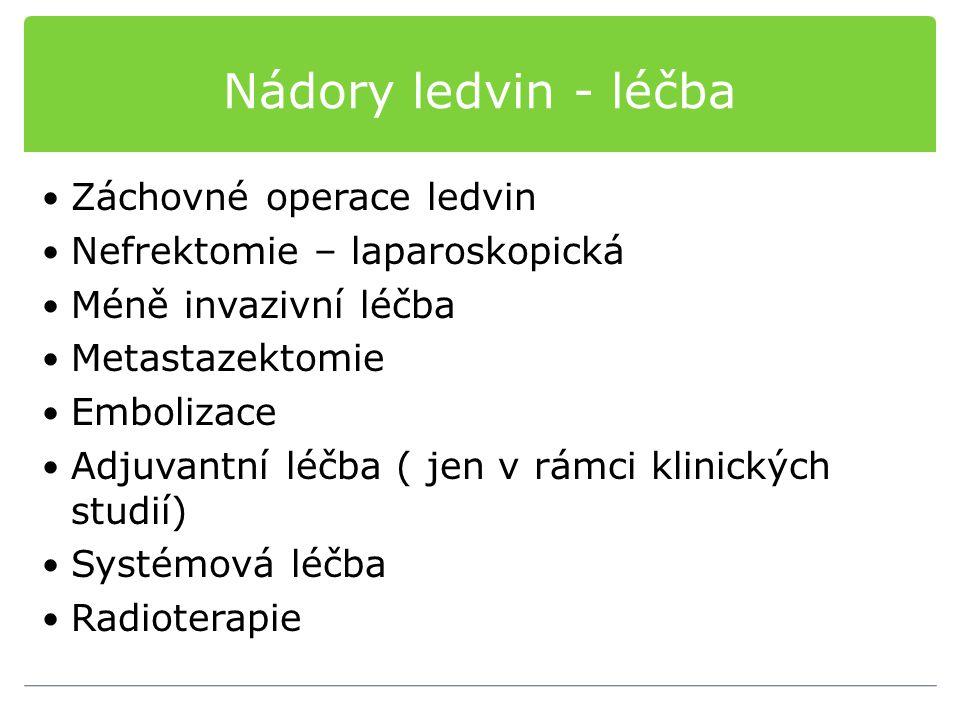 Nádory ledvin - léčba Záchovné operace ledvin