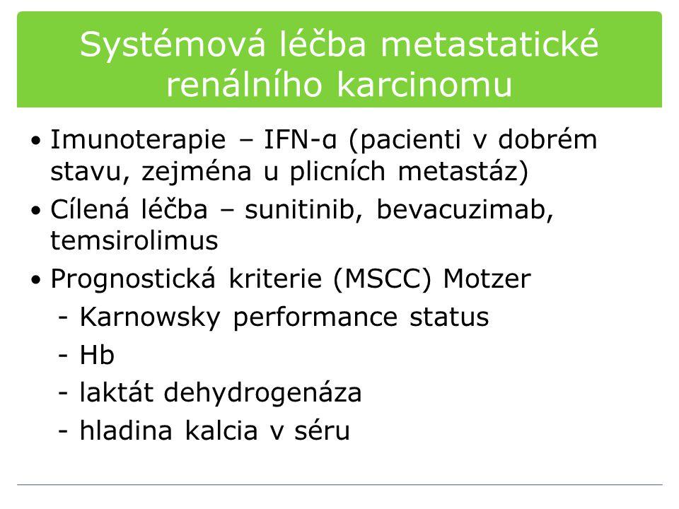 Systémová léčba metastatické renálního karcinomu