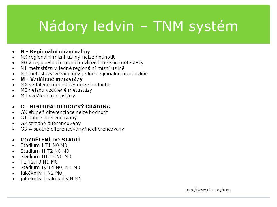 Nádory ledvin – TNM systém