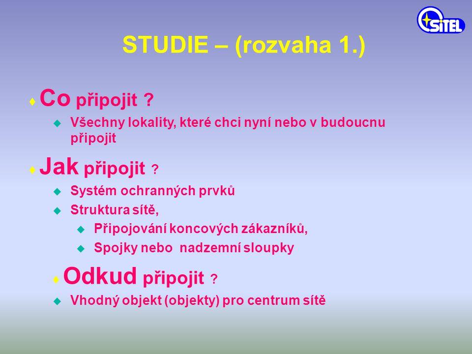 STUDIE – (rozvaha 1.) ♦ Co připojit