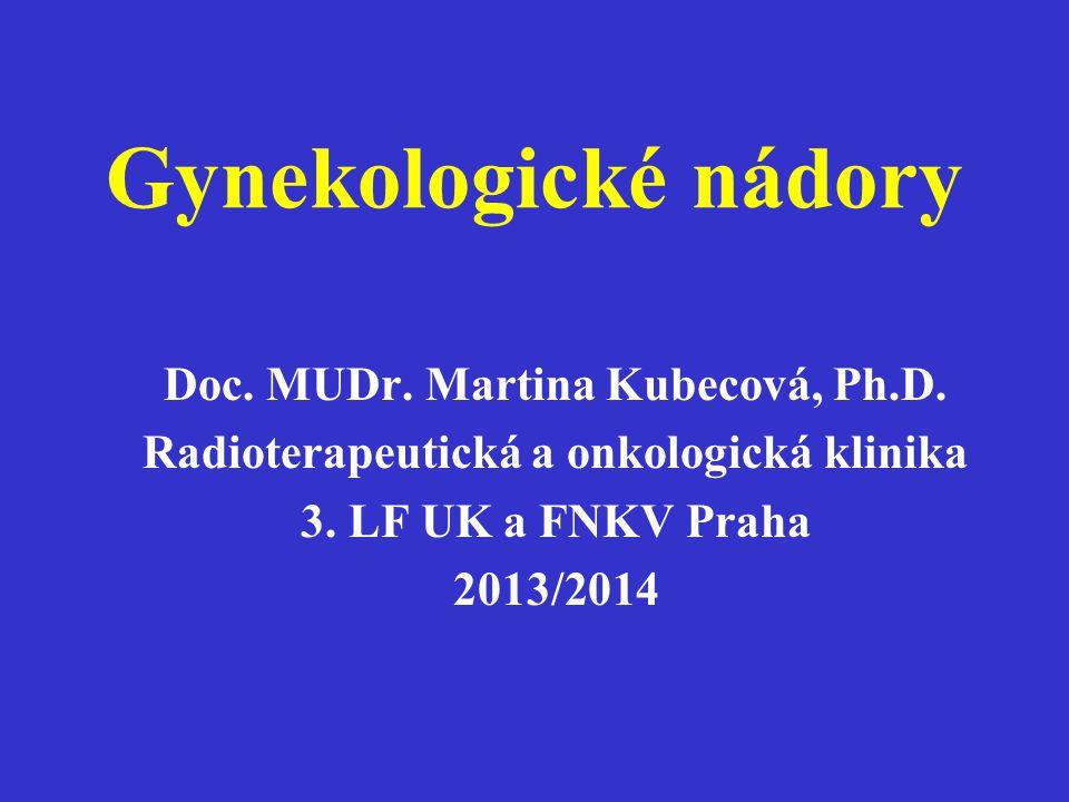 Gynekologické nádory Doc. MUDr. Martina Kubecová, Ph.D.