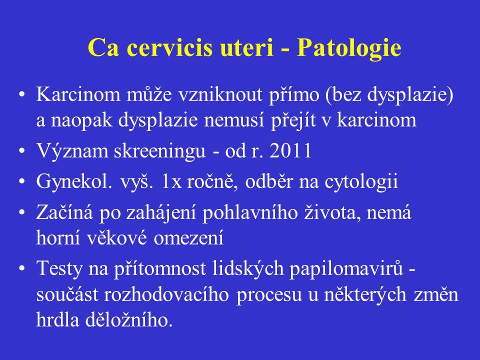 Ca cervicis uteri - Patologie
