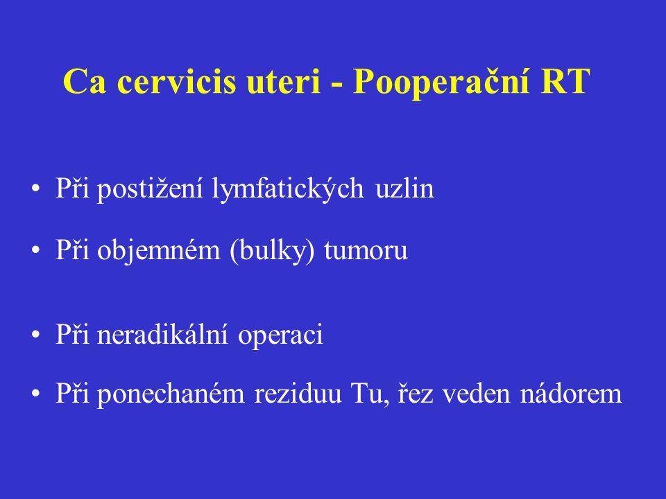 Ca cervicis uteri - Pooperační RT