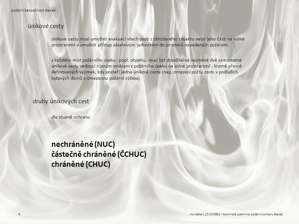 částečně chráněné (ČCHUC) chráněné (CHUC)